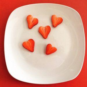 Fresas corazon