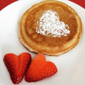 Pancake corazon