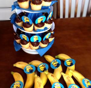 cupcakes bananas minions